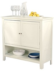 Недорогие -кухня столовая шкаф для хранения сервант буфет сервер в античный белый