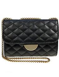 cheap -Women's Bags PU(Polyurethane) Crossbody Bag Solid Color Black / Silver / Blushing Pink