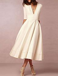 Недорогие -А-силуэт V-образный вырез Ниже колена Шифон Свадебные платья Made-to-Measure с от LAN TING Express