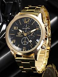 Недорогие -Муж. Нарядные часы Кварцевый Повседневные часы Аналоговый На каждый день - Черный Золотой