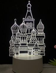 Недорогие -3d светодиодный настольный светильник олень любовь ночь lightcat единорог эйфелева башня лампа для детской спальни