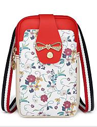 Недорогие -Жен. Молнии PU Мобильный телефон сумка Розовый / Серый / Коричневый