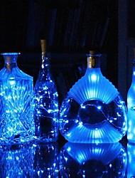 Недорогие -0,75 м бутылка вина пробка гирлянда 15 светодиодов smd 0603 теплый белый / белый / многоцветный водонепроницаемый / свадебный фестиваль декорации батареи с питанием от 1 шт.