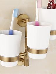 Недорогие -Держатель для зубных щеток Креатив Современный Латунь 1шт - Ванная комната На стену