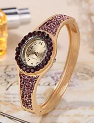 Недорогие -Жен. Часы-браслет Кварцевый Повседневные часы Аналоговый Роскошь - Светло-синий Белый Лиловый