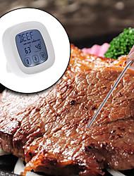 Недорогие -ts-802a сенсорный экран для приготовления мяса гриль термометр таймер с зондом z40 (одиночная игла)