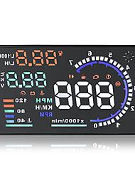 Недорогие -A8 универсальный 5,5-дюймовый автомобиль HUD Head Up Display obdii предупреждение о скорости потребления топлива автомобильная автомобильная сигнализация