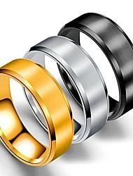 Недорогие -Муж. Кольцо Хвост 1шт Золотой Черный Серебряный Нержавеющая сталь Титановая сталь Круглый Классический Мода Подарок Повседневные Бижутерия Cool
