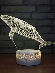 Недорогие -кит 3d ночь свет новая фантазия из светодиодов декоративные стерео 3d usb детские игрушки дети светодиодные светильники настольные лампы