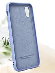 Недорогие -Кейс для Назначение Apple iPhone XS / iPhone XR / iPhone XS Max Защита от удара Кейс на заднюю панель Однотонный Мягкий ТПУ / Силикон / Хлопковая ткань