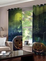 Недорогие -Горячие продажи hallowmas тема 3d цифровая печать окна занавес роскошная спальня гостиная затемнение 100% полиэстер ткань для штор для домашнего декора