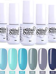 Недорогие -6 шт. Цвет 85-90 xyp выдержка уф / гель для ногтей сплошной цвет лак для ногтей наборы