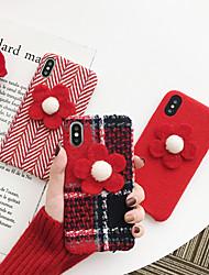 Недорогие -Кейс для Назначение Apple iPhone XS / iPhone XR / iPhone XS Max Защита от пыли / С узором Кейс на заднюю панель Полосы / волосы / Мультипликация / Цветы Кожа PU