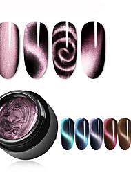 Недорогие -5мл магнитный 5d кошачий глаз уф-гель лак для ногтей магнит лазерный лак для ногтей лак звездное небо нефритовый эффект замочить уф-гель лак для ногтей