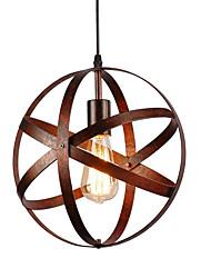 Недорогие -30 см старинные промышленные металлические сферические подвесные светильники столовая кухня кафе подвесной светильник окрашенная отделка