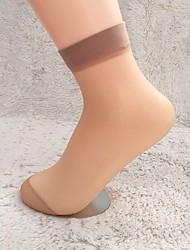 Недорогие -Жен. Тонкая ткань Сексуальные платья Носки - Сексуальные платья 30D Черный Светло-коричневый Один размер