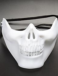 Недорогие -женская мужская маска для рта - однотонный черный&белый, сетка