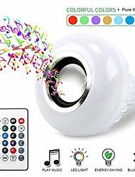 Недорогие -1шт 12 W Умная LED лампа 700 lm E26 / E27 26 Светодиодные бусины SMD 5050 Bluetooth На пульте управления Для вечеринок RGBW 100-240 V