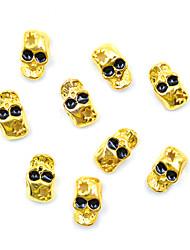 abordables -10 unids / pack diseño de aleación de metal 3d decoraciones del clavo joyería brillante 26 estilos de manicura diseño de accesorios de uñas