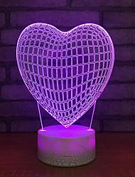 Недорогие -романтическая любовь привела красочные 3d сенсорный затемнение настольная лампа энергосберегающие настольные лампы день святого валентина подарок 3d ub ночник