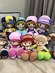Недорогие -35cm Кукла для девочек Плюшевая кукла Милый стиль Безопасно для детей Non Toxic Ткань Плюш Мальчики Девочки Игрушки Подарок / Большой размер