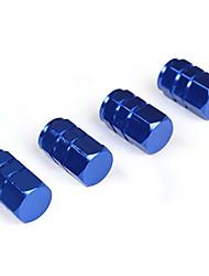 Недорогие -Синий алюминиевый сплав колеса автомобиля крышка колеса крышка клапана тонкая печать пылезащитные крышки воздушного клапана