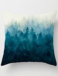 Недорогие -1 штук Бархат Наволочка, Деревья / Листья 3D-печати Традиционный Мода Бросить подушку