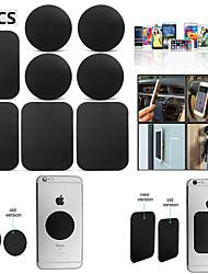Недорогие -8 шт магнитная металлическая пластина стикер для смартфонов матовый черный