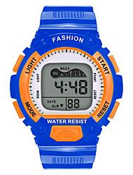 Недорогие -Мальчики электронные часы Цифровой Спортивные Стильные Кожа Красный / Оранжевый / Желтый 30 m Защита от влаги Фосфоресцирующий Повседневные часы Цифровой На каждый день Мода -  / Один год