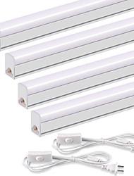Недорогие -ZDM 4шт LED T5 интегрированный одиночный светильник 2ft 10 Вт 1100LM подключаемая утилита магазин свет потолок и под шкафом свет проводной электрический со встроенным выключателем вкл / выкл