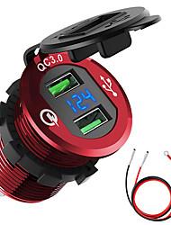 Недорогие -автомобильный мотоцикл переоборудован зарядное устройство USB мобильный телефон планшет qc3.0 металл быстрая зарядка