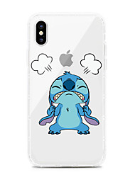 Недорогие -Кейс для Назначение Apple iPhone XS / iPhone XR / iPhone XS Max Защита от удара / Защита от пыли / Прозрачный Кейс на заднюю панель Прозрачный / Мультипликация ТПУ