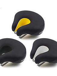 Недорогие -Седло для велосипеда Очень широкий Дышащий Комфорт Профессиональный Кожа Сталь Пена с памятью Велоспорт Шоссейный велосипед Горный велосипед Велосипеды для активного отдыха / Толстые / Эргономичный