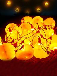 Недорогие -Хэллоуин светодиодные фонари набор из 3 батарейках 9.8ft украшения тыквы огни с 16 светодиодные фонари для внутреннего наружного рождественского праздника партии 1 компл.