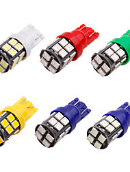 Недорогие -10 шт. T10 светодиодные w5w 2835 20 smd 194 168 w5w светодиодные лампочки белый синий красный зеленый номерного знака лампа ширина фонари 20 светодиодные 12 В