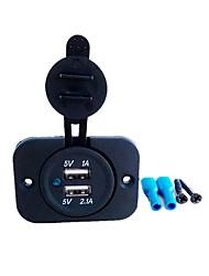 Недорогие -5v 3.1a двойной порт usb автомобильное зарядное устройство розетка для ipad iphone автомобиль мотоцикл лодка мобильные телефоны светодиодные розетки