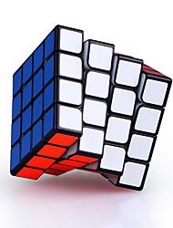 Недорогие -4 х 4 х 4 магнитных профессиональных гладких Valk4M волшебный кубик головоломка игрушка черный