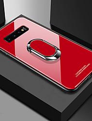 Недорогие -Кейс для Назначение SSamsung Galaxy S9 / S9 Plus / S8 Plus Защита от удара / со стендом / Кольца-держатели Кейс на заднюю панель Однотонный Твердый ТПУ / Закаленное стекло