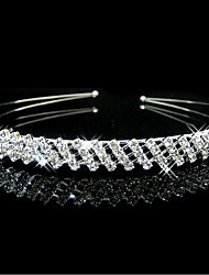 Недорогие -Жен. Элегантный стиль Принцесса Цирконий Серебрянное покрытие Сплав Для вечеринок Вечерние - Однотонный