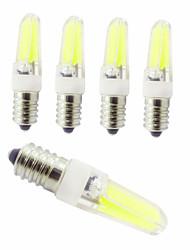Недорогие -5 шт. E14 база светодиодные лампы затемнения светодиодные двухконтактные фонари 3 Вт светодиодный свет для домашнего офиса залы люстра ac220v теплый белый белый натуральный белый