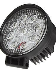 Недорогие -27w вело пятно света 12v ip67 работы / противотуманные фары потока для с бездорожья шины поезда трактора atv