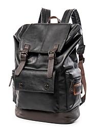 Недорогие -Большая вместимость PU Молнии рюкзак Повседневные Черный / Муж.