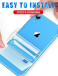 Недорогие -AppleScreen ProtectoriPhone XS HD Передняя и задняя и защитная линза для камеры 1 ед. TPU