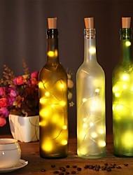 Недорогие -2м бутылка вина пробка гирлянда 20 светодиодов smd 0603 теплый белый / белый / многоцветный водонепроницаемый / вечеринка / свадьба / рождество / хэллоуин на батарейках 1 шт.