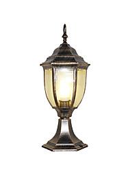 Недорогие -водонепроницаемый ретро уличное освещение сад / наружный алюминиевый столб светильник из алюминия / стеклянная колонна свет фонарный столб для внутреннего освещения сада входной двери