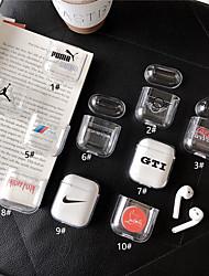 Недорогие -Сумка для наушников Простой стиль Apple Airpods Водостойкий Скретч-доказательство Пластиковый корпус