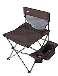 Недорогие -Складное туристическое кресло с подстаканником с боковым карманом Компактность Противозаносный Складной Удобный Стальная труба Оксфорд для 1 человек