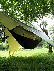 Недорогие -Кемпинговый гамак с противомоскитной сеткой Защита гамака от дождя На открытом воздухе Компактность С защитой от ветра Защита от солнечных лучей Парашют Нейлон с карабинами и ремнями для 2 человека
