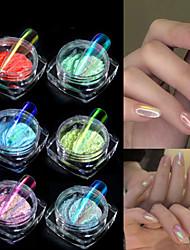 povoljno -1 pcs Najbolja kvaliteta Blistati Puder u prahu Za Prst noktiju Moda nail art Manikura Pedikura Dnevno / Festival Stilski / slatko