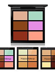 Недорогие -6 цветов минеральный Консилер Консилер # Высокое качество / Мода Портативные На каждый день / Свидание Составить косметический